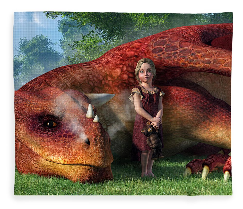 A Little Girl and Her Dragon