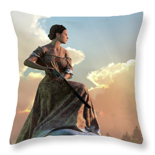 Wild West Woman with Rifle