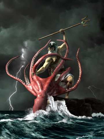Poseidon vs. the Kraken